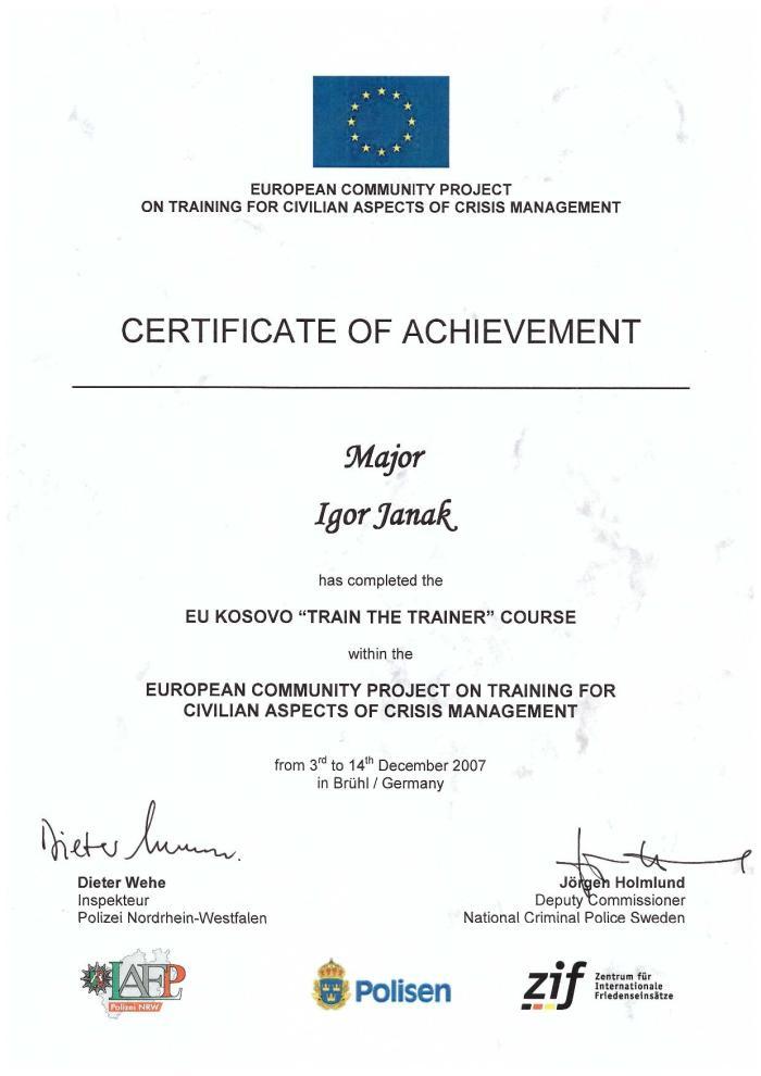certifikát sbs-sen