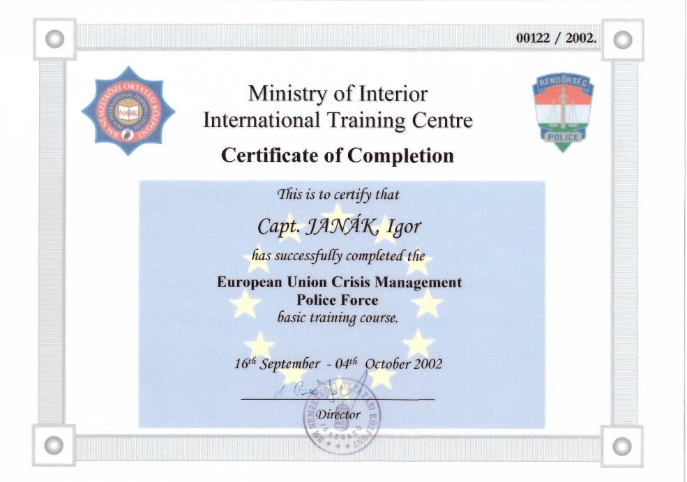 certifikát senica sbs